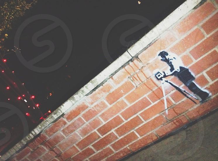 City art on bricks  photo