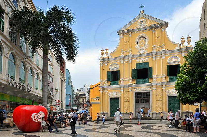 St. Dominic's Church located at Senado Square in Macau China photo