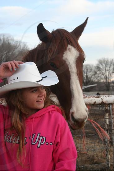 Love bond thoroughbred racehorse stud girl photo