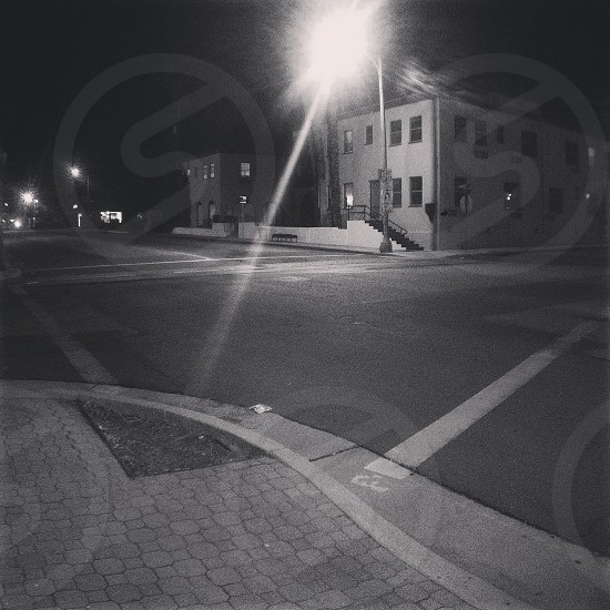 road during night time photo