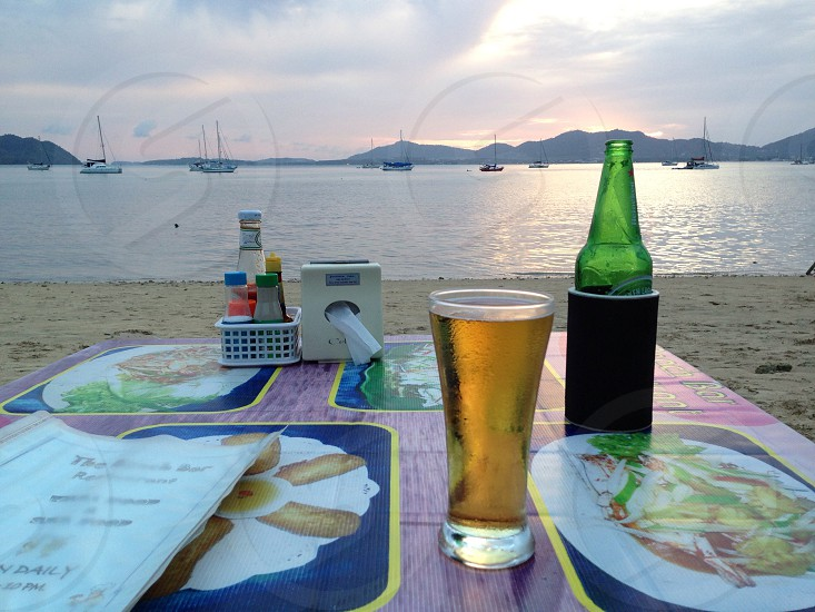 Lonesome beer in Phuket. photo