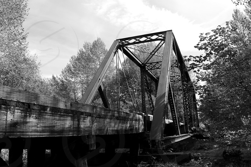 Railroad bridge Ronette Pulaski's used in Twin Peaks. photo