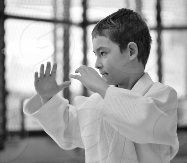 Focus - my son at jujitsu photo