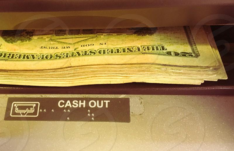 bundle of 20 USA dollar bills photo