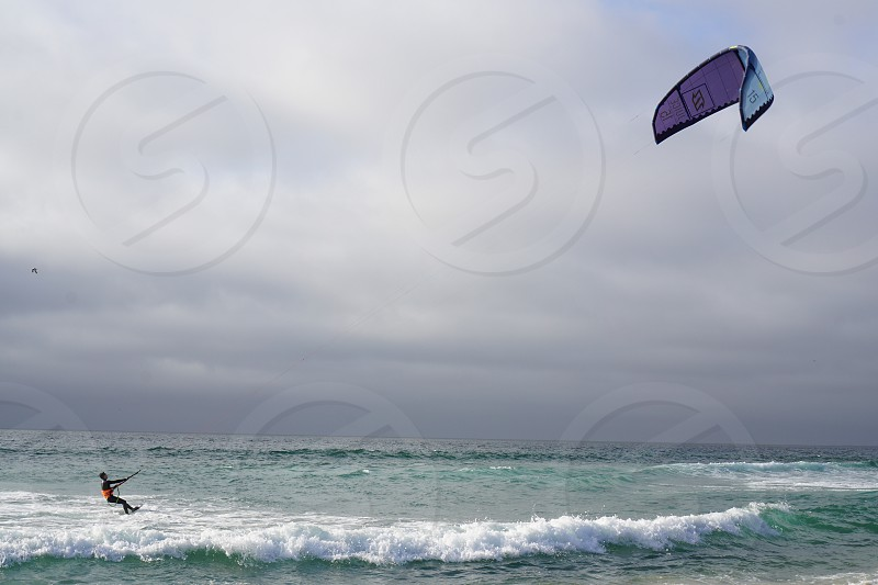 Wind surfing watersports ocean beachside  photo