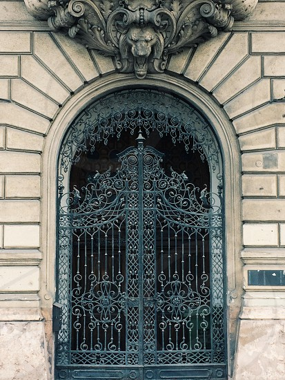 Gated door on the Buda side of Budapest photo