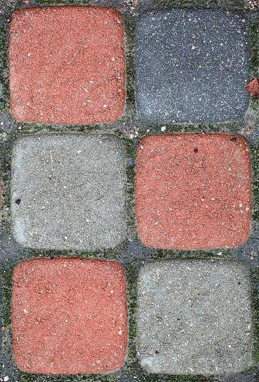 Colorful paved blocks. photo