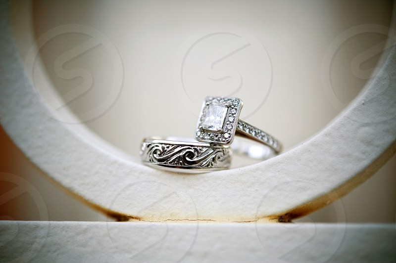 Close-up of wedding rings photo