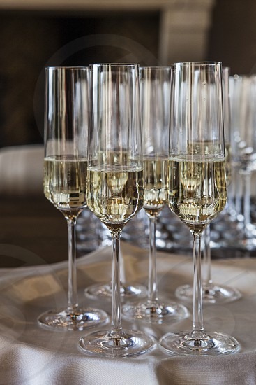 celebrate celebration champagne prosecco glasses liquid serving holiday wedding party photo
