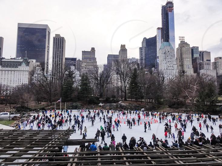 Wollman Rink Central Park -  New York City NY USA photo