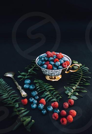 Berries raspberries blueberries  photo