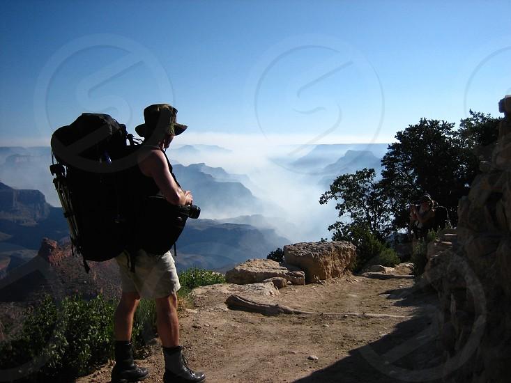 Hiking backpack photo