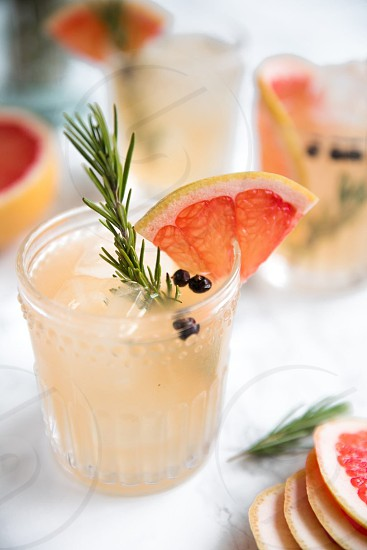 Summer cocktail with bright airy background photo