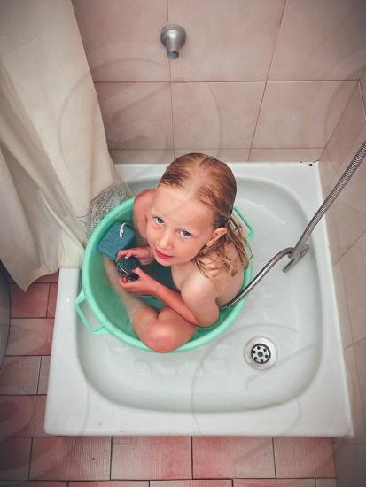 girl in the bath tab photo