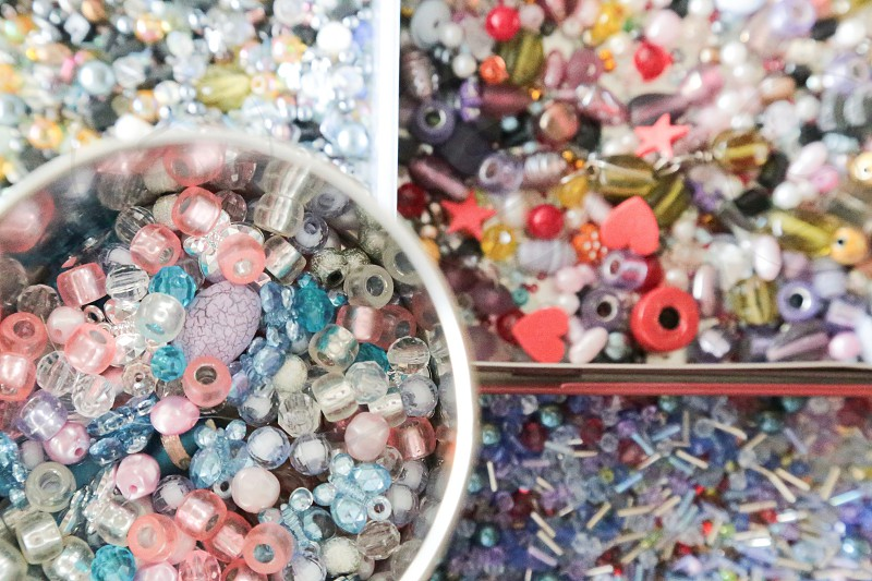 I collect pearls colors different colorful spectra shapes shaped photo