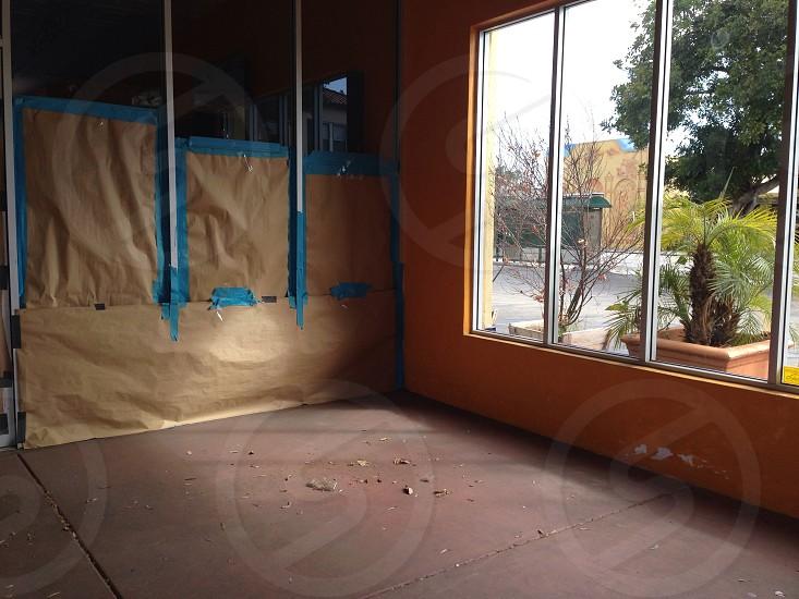 orange wall paint photo