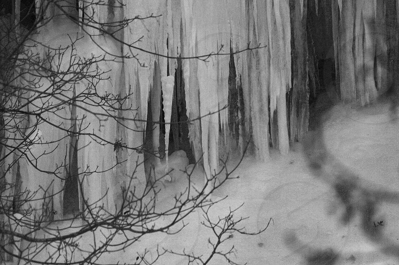 ice cold stalactites photo