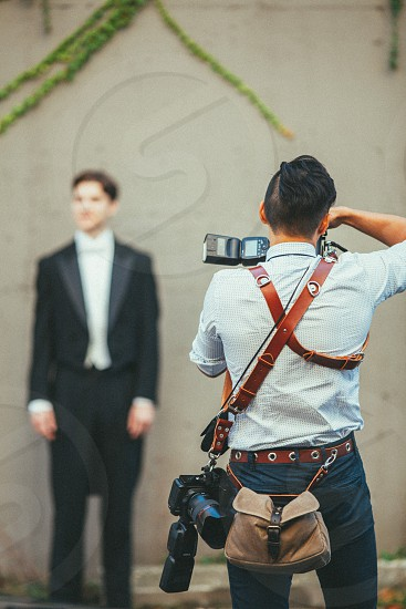 Wedding Photographer at work photo