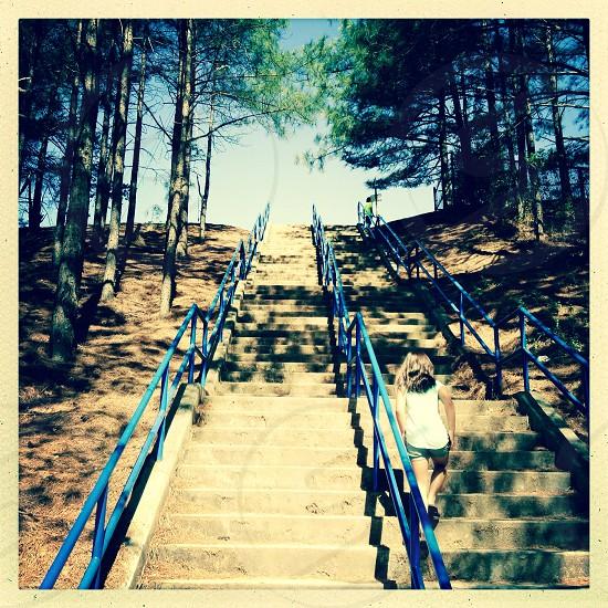 Steep stairs photo