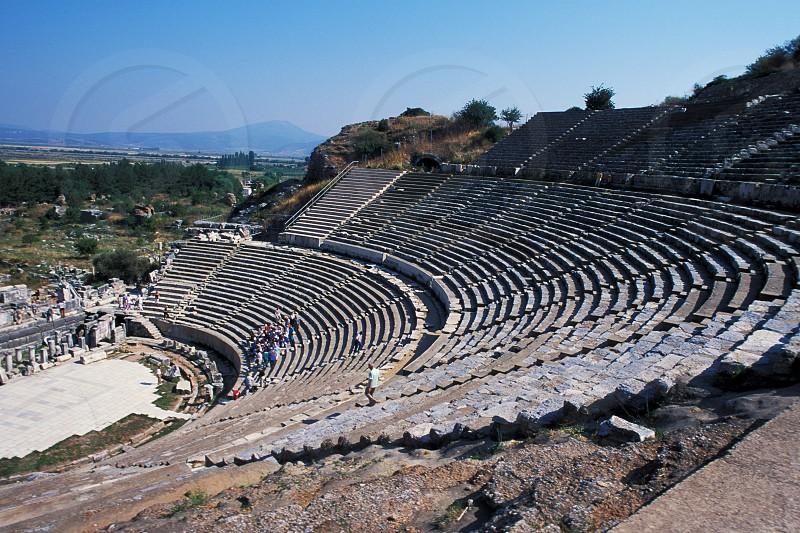 The Amphitheater in Ephesus Turkey. photo