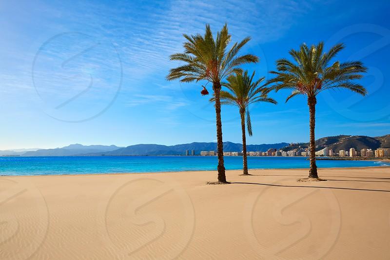 Cullera Playa los Olivos beach in Mediterranean Valencia at Spain photo