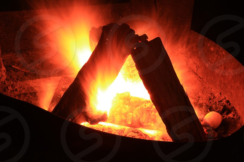 Fire flowing  photo