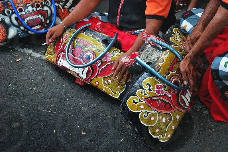 bali traditional ceremony photo