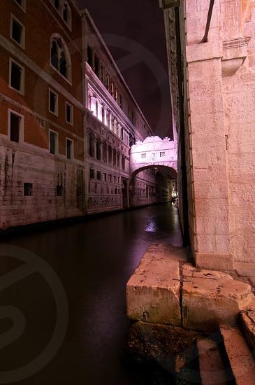 "Venice Italy ""ponte dei sospiri "" sight bridge unusual view photo"