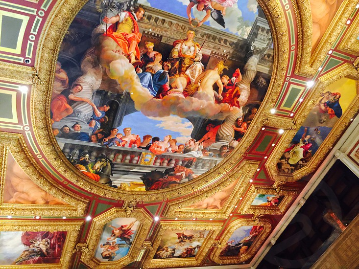 religious ceiling painting photo