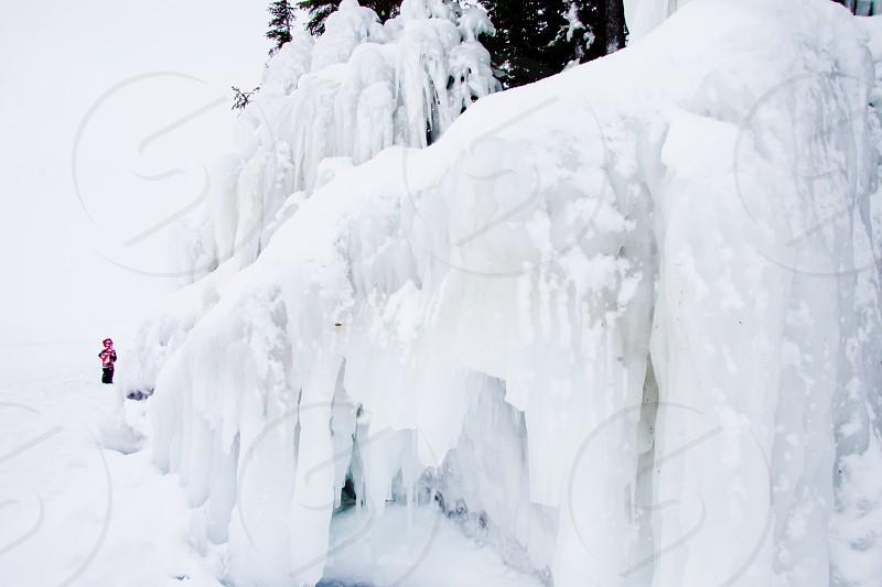 Cold winter ice snow  photo