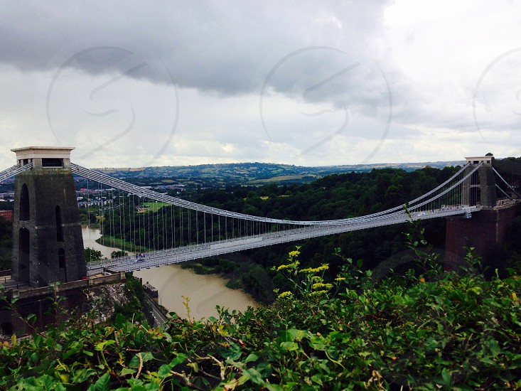 Bristol bridge in the UK. photo