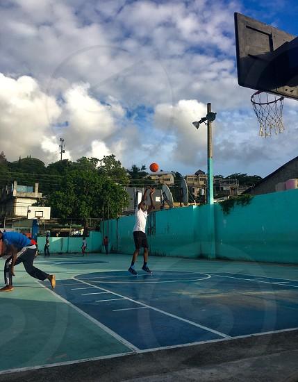 Basketball shooting shoot jump summer Sosua Dominican Republic sport everywhere  photo