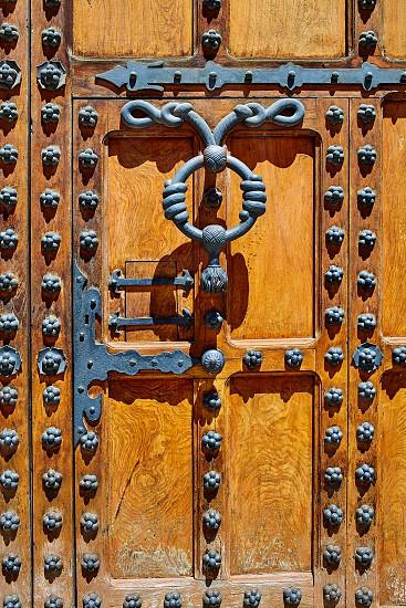 Casa de los Condestables house door in Burgos also known as Casa del Cordon at Castilla Spain photo