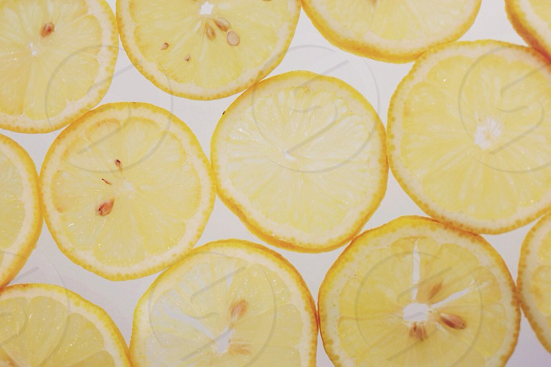 view of lemon slices photo