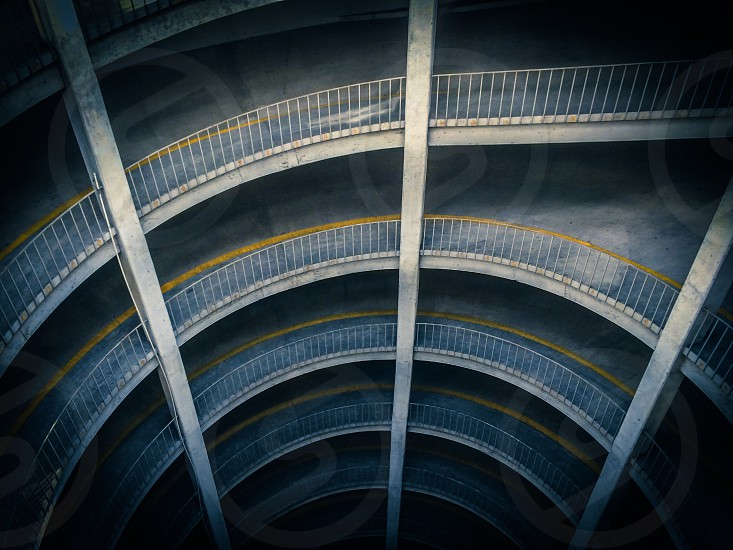 Spiral perspective road structure architecture man made photo
