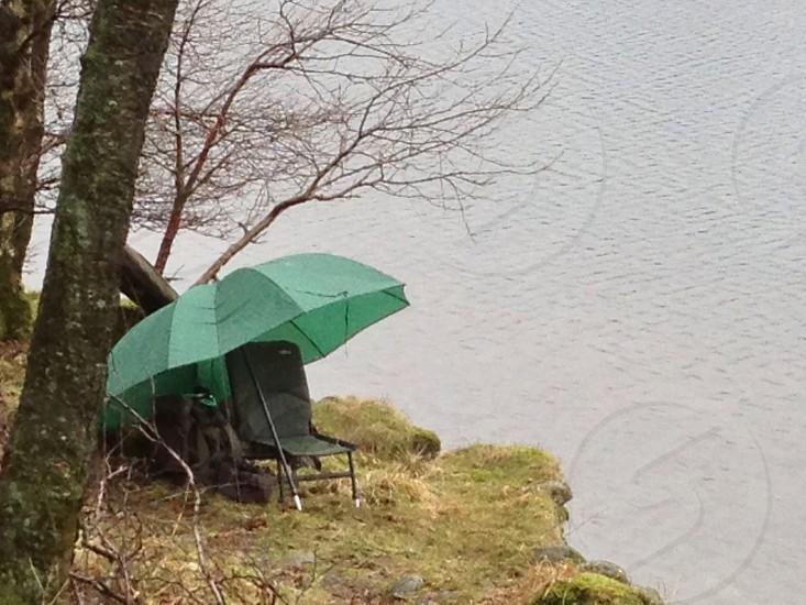 Fishing  rain shelter wet  photo
