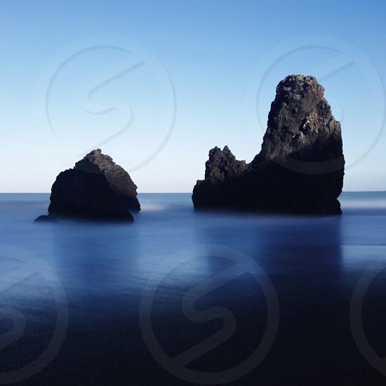 rocks in water photo