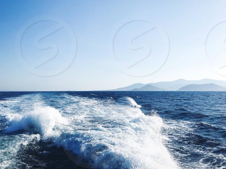Cruise season  water speed blue water fresh water travel photo