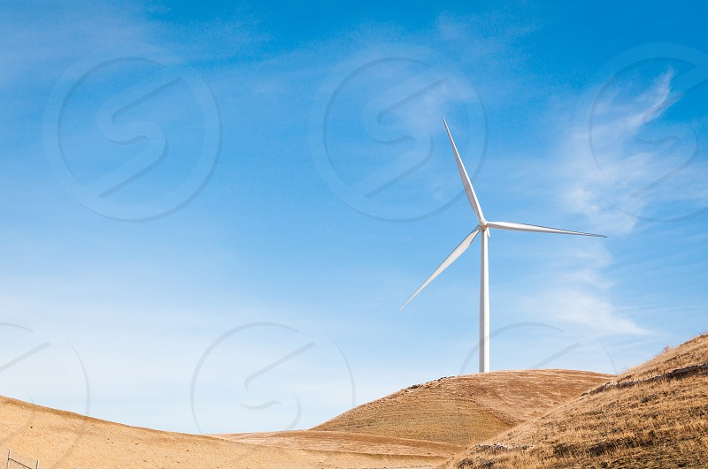 Wind energy with space for copy photo