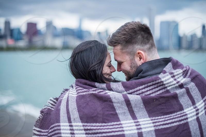 Blanket snuggle cuddle love photo