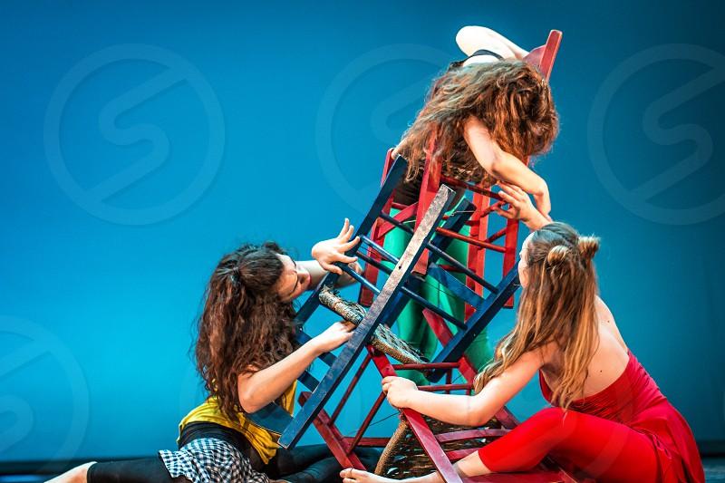 Three Woman Dancers Performing photo