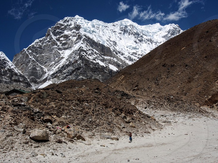 Nepal Gorak Shep trekking mountains adventure explore hiking photo