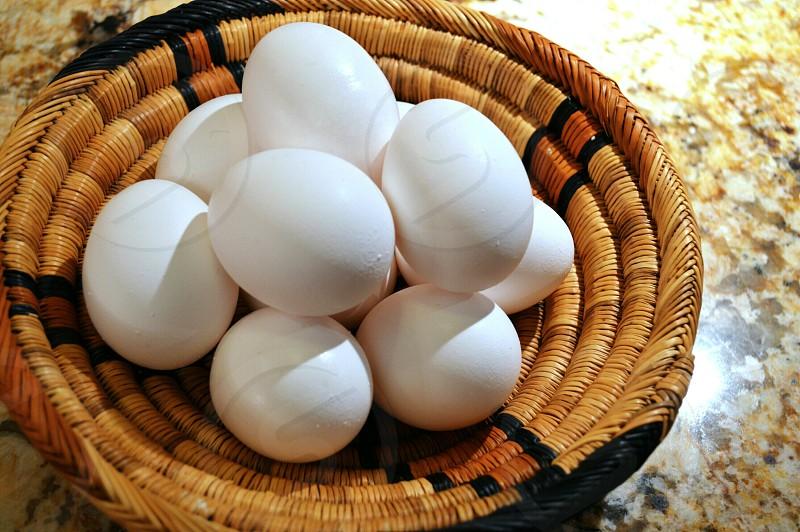 eggs on basket photo