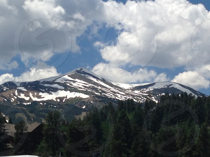 Icy snowColorado  mountain snow cap photo