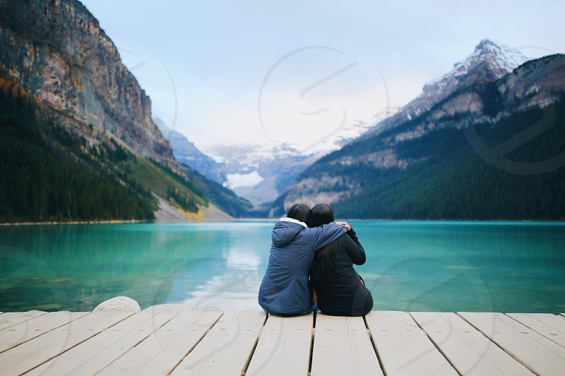 Lake Louise Alberta Canada Nature Love Best Friend Travel Wanderlust  Mountain photo