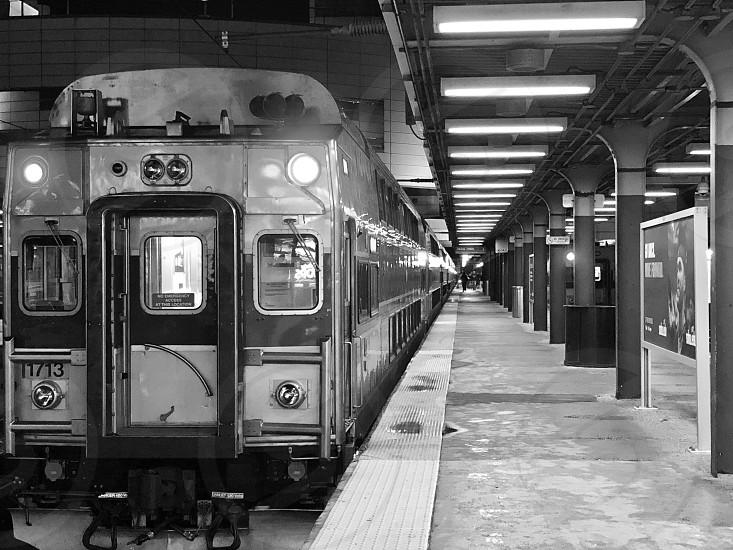 Train Station in Boston train to NY  photo