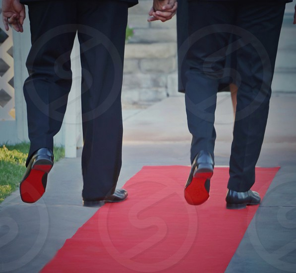 Wedding aisle louboutin love groom photo
