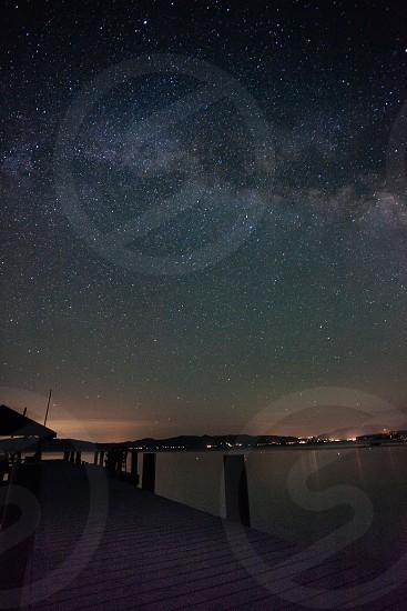 Lake Tahoe Milky Way pier photo