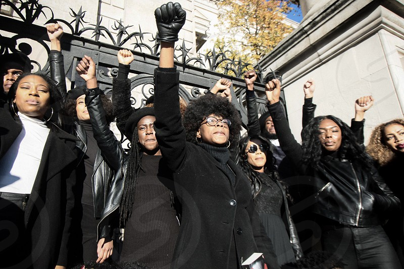Black Panther Power Editorial Models photo
