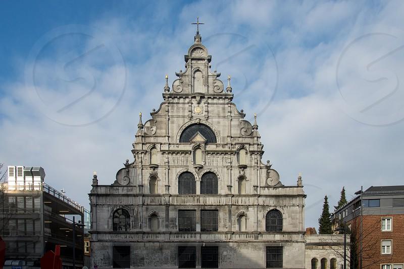 grey concrete church photo